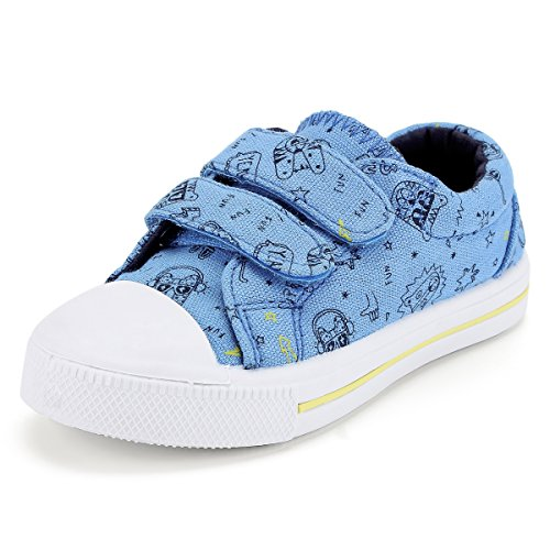 - KomForme Toddler Sneakers for Boys and Girls Blue, 11 M US Toddler