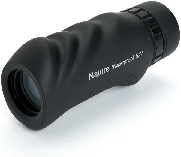 Celestron Nature 10x25 - Monocular de 25 mm diámetro, Factor de Aumento 10x, Resistente al Agua, Color Negro