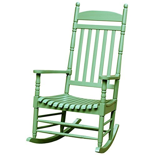 Moss Rocking Chair with High Back and a Wide Seat,Turned Post by Turned Post