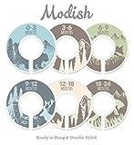 Modish Labels Baby Nursery Closet Dividers, Closet Organizers, Nursery Decor, Baby Boy, Woodland, Tribal, Woodland Animals, Bear, Fox, Deer, Blue, Gray, Green, Brown, Tan, Beige (Blue/Green/Brown)