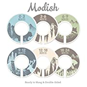 Modish Labels Baby Nursery Closet Dividers, Closet Organizers, Nursery Decor, Baby Boy, Woodland, Tribal, Woodland Animals, Bear, Fox, Deer, Blue, Gray, Green, Brown, Tan, Beige (Blue/Green/Brown)