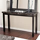 Cheap Galassia Faux Marble Console Table