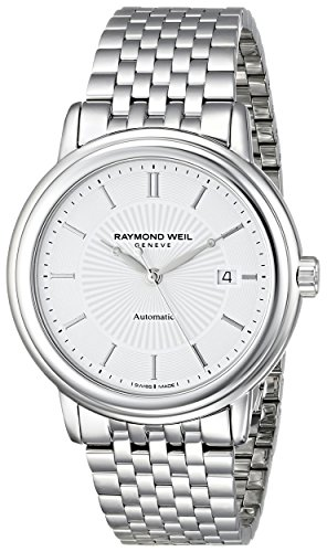 Raymond Weil Men's 2847-ST-30001 Maestro Analog Display Swiss Automatic Silver Watch