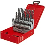Dormer A190 High Speed Steel Jobber Length Drill Bit Set with Plastic Case, Black Oxide Finish, 118 Degree Conventional Point