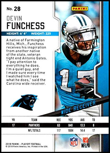 Amazon.com  2018 Panini Playoff Kickoff  28 Devin Funchess NM-MT Carolina  Panthers Official NFL Football Card  Collectibles   Fine Art e9d0e79c2