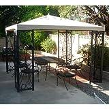 Fleur De Lis Finial Gazebo Replacement Canopy – RipLock 500 For Sale