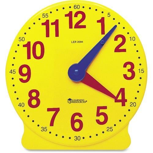 LEARNING RESOURCES Set of Six Four-Inch Geared Learning Clocks, for Grades Pre-K to 4 (LER2202)