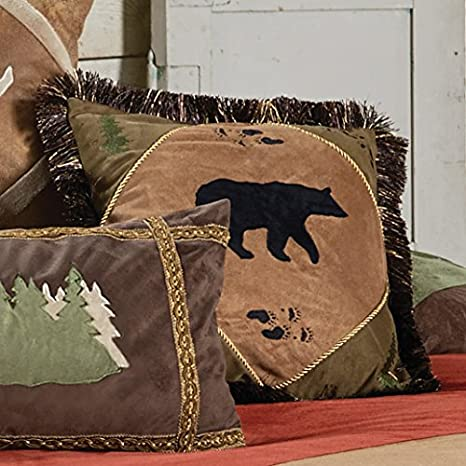 Amazon.com: Bear Tracks oso Accent – Almohada (cabina ropa ...