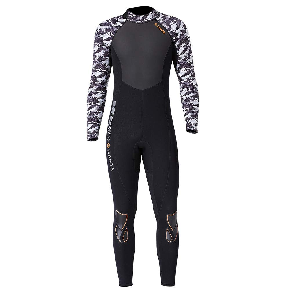 Yliquor Men's Keep Warm Sunscreen Swimming,Surfing and Snorkeling Diving Coverall SuitQuick Dry Breathable Elastic Training Comfy Classic Fashion by Yliquor (Image #7)