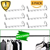 Closet Organization Hangers Space Saving Organizer Clothing Hangers As Seen On TV Cascading Vertical Clothes Hangers For Wardrobe Space Saver (Metal)