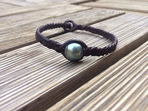 bracelet homme perles cuir