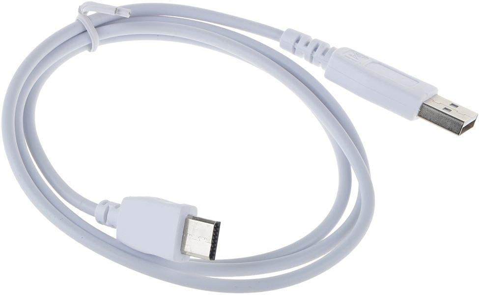 yan White Charger Power Cable for Fuhu Nabi DreamTab DMTab Touch Screen HD 8 Tablet