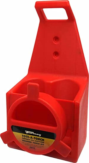 Forney 86221 Oxygen Acetylene Light Duty Replacement Plastic Tote Torch Kit Red