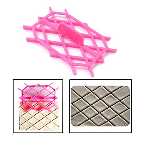 Diamond Rhombus Fondant Cake Cutter Embossing Mould Cake Tools Hongkong