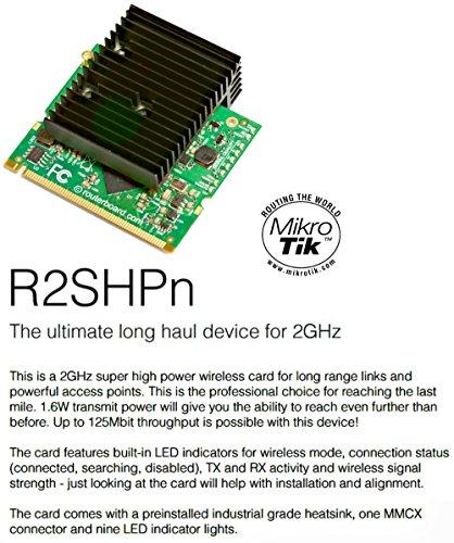 Mikrotik R2SHPn 2 4 GHz MiniPCI card 1600 mW TX, 802 11b/g/n, - Import It  All