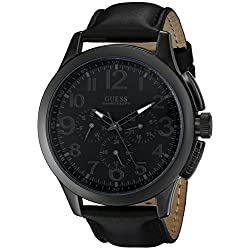 GUESS Men's U10628G1 Black Modern Details Casual Sport Watch
