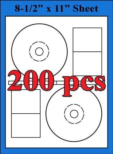 Stomper Pro Compatible Labels 2UP CD DVD Matte White Labels Sheets - 200 Labels