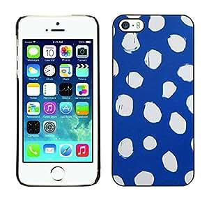 X-ray Impreso colorido protector duro espalda Funda piel de Shell para Apple iPhone 5 / iPhone 5S - Spots Blue White Dress Abstract