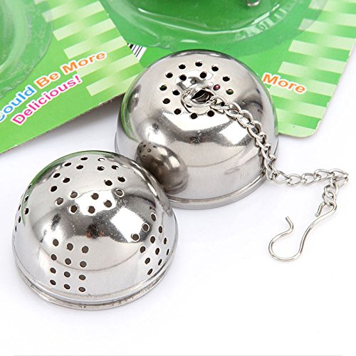 Funnytoday365 Stainless Steel Tea Infuser Strainer Tea Filter Tea Pot Accessories Tool For Kitchen Households Gadget Tea Ball by FunnyToday365 (Image #1)