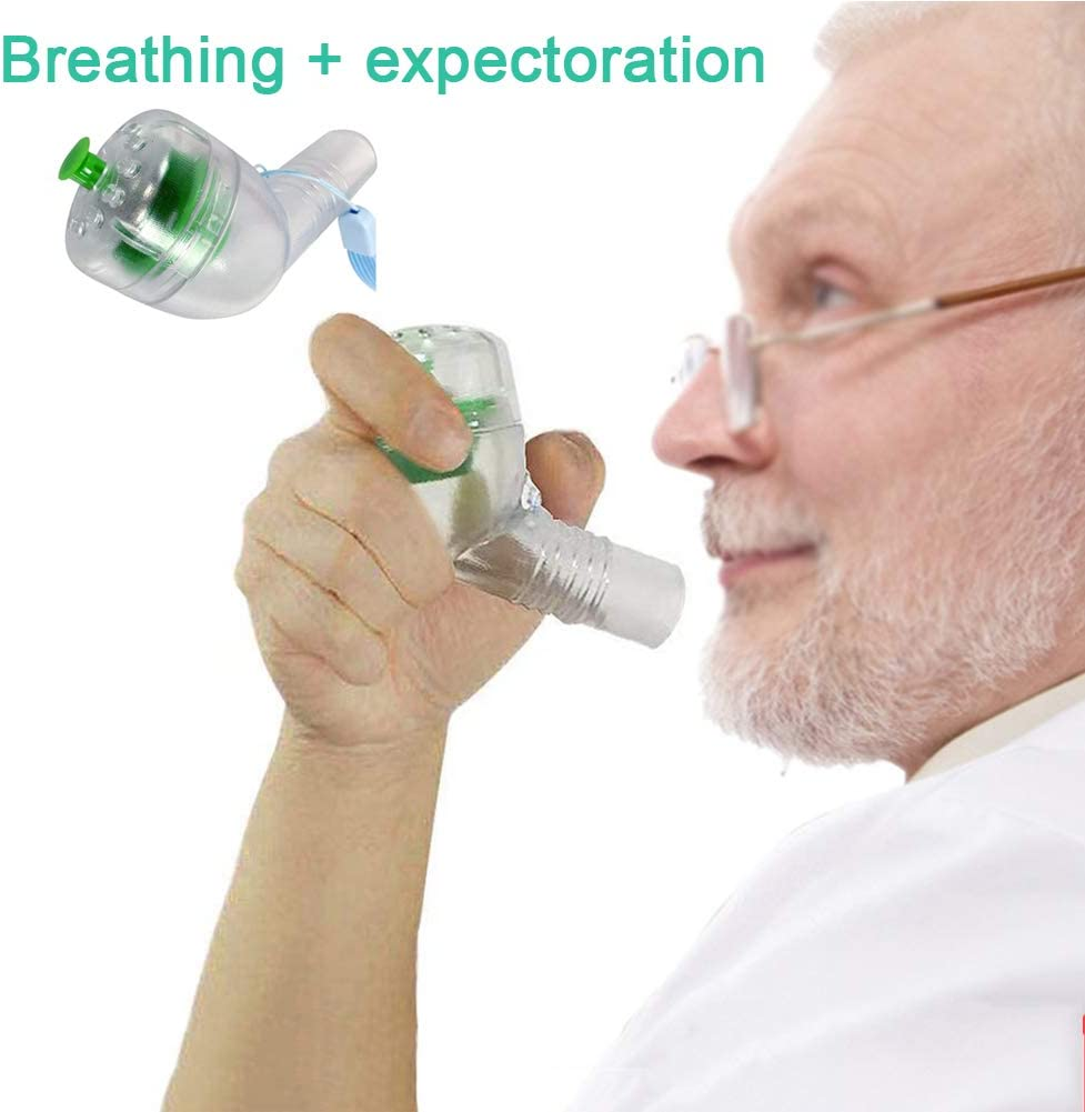 DNNAL Expansión pulmonar, Ejercitador pulmonar de respiración profunda El cuidado Del paciente antiguo, facilita la respiración: fácil de usar