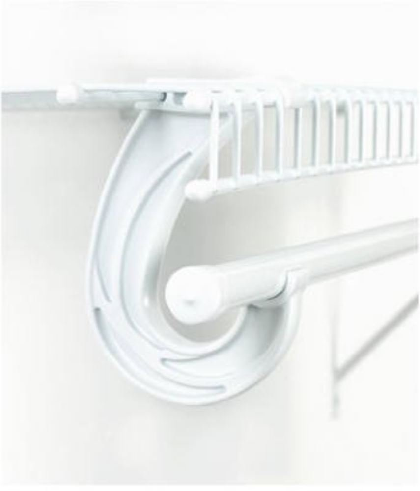Amazon.com: SuperSlide White Closet Rod Support Pack Of 2: Home Improvement