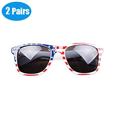 e015fa00c64 Image Unavailable. Image not available for. Color  Classic American Flag  Sunglasses Stars and Stripes ...