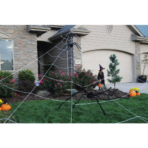 Mega Spider Web Outdoor Halloween Decoration - Terrify Your Neighbors - By (Outdoor Halloween Decorations)