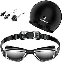 Swim Goggles - Swimming Goggles with Cap + Nose Clip +...
