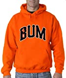 "Silo Shirts ORANGE Madison Bumgarner San Francisco ""BUM"" Hooded Sweatshirt"