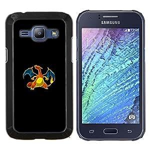 Caucho caso de Shell duro de la cubierta de accesorios de protección BY RAYDREAMMM - Samsung Galaxy J1 J100 - Charizard P0kemon