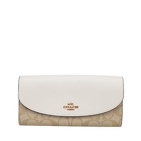 c81ca59ffdf3 Coach Women's PVC Wallet F54022 White Khaki (White Khaki)