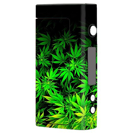 Skin Decal Vinyl Wrap for Sigelei Fuchai 200W Vape Mod Box / weed gonja