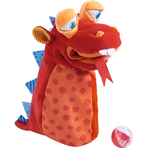 HABA Glove Puppet Eat-It-Up with Built in Belly Bag to Feed the Monster