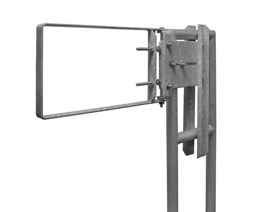 Fabenco A71-21 22-24.5'' x 12'' A36 Steel Galvanized Safety Gate