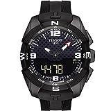 Tissot Men's 'T-Touch Expert' Swiss Quartz Titanium and Silicone Dress Watch, Color:Black (Model: T0914204705701)