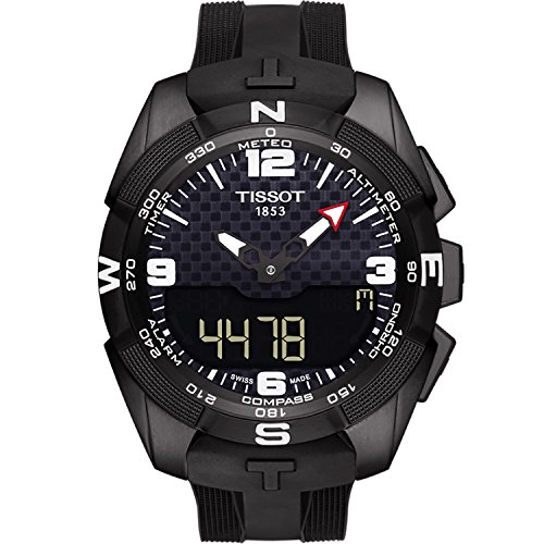 (Tissot Men's T-Touch Expert Titanium Swiss-Quartz Watch with Silicone Strap, Black, 20 (Model: T0914204705701))