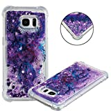 COTDINFOR Samsung S7 Edge Phone Liquid Case for Girls 3D Cute Glitter Liquid Sparkle Floating Bling Quicksand Protective Soft Silicone Flowing Shiny Slim Cover for Samsung S7 Edge Dreamcatcher YB.