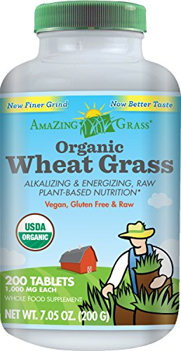 Amazing Grass organique herbe de blé, 200 comptent, 1000mg comprimés