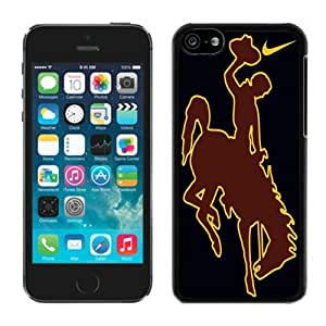 Hot Sale iPhone 5C Case ,Popular And Unique Designed With Wyoming Cowboys 03 Black iPhone 5C High Quality Cover