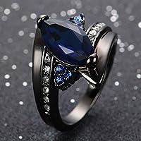 phitak shop 14kt Black gold filled Sapphire Gemstone Ring Wedding Engagement Jewelry Sz 6-12 (7)