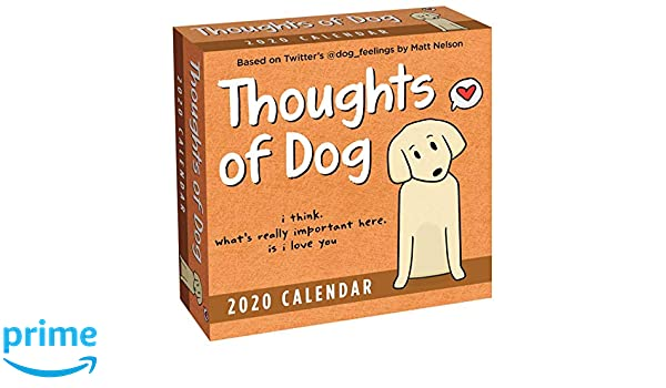 Thoughts of Dog 2020 Day-to-Day Calendar: Matt Nelson