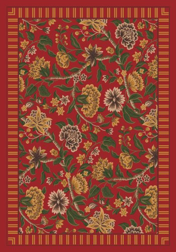(Milliken Pastiche Vachell Indian Red Rug Oval 5'4
