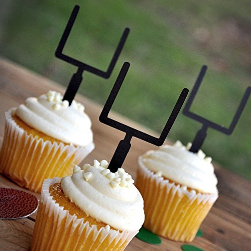 Football Birthday Party. Sports Party Decor. Cupcake Toppers. Football Goalpost Picks Sets of 12.
