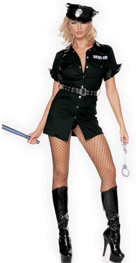 Xiao-máscaras Sexy Mujer policía Oficial de policía Uniforme ...