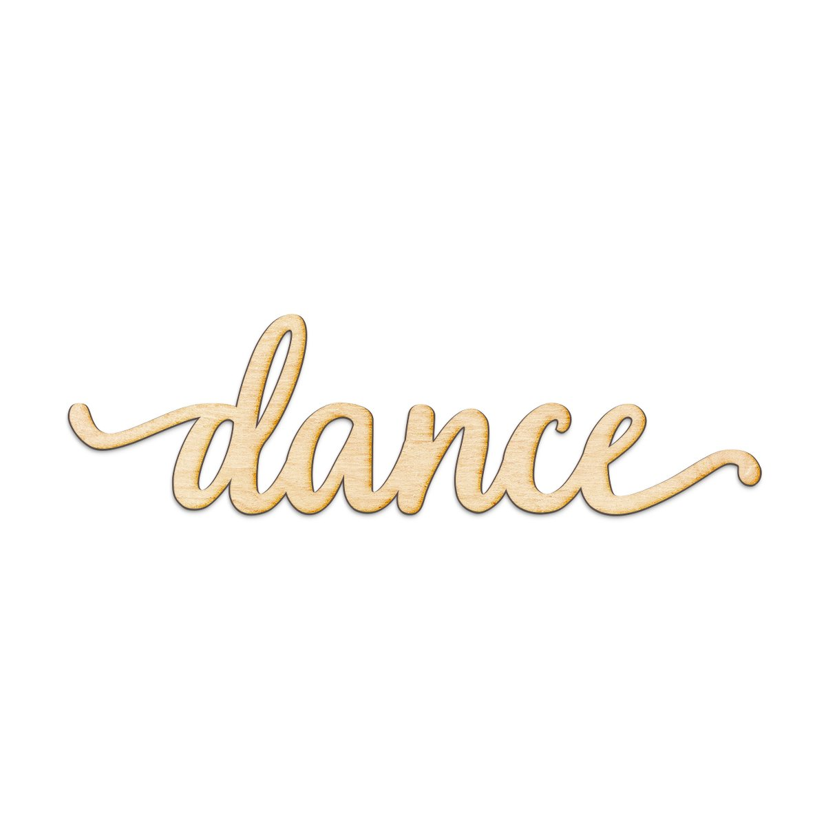 Dance Script Wood Sign Home Decor Wall Art Unfinished Charlie 8'' x 3''