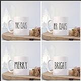 Rae Dunn Inspired Christmas Mug Decal Set of 4, 11oz, 15ozm gift, tea cup