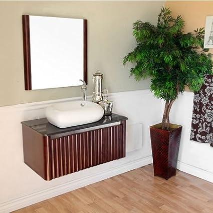 Bellaterra Home 804347 32.5 Inch Single Sink Vanity, Wood, Walnut