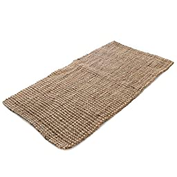 Milliard Handspun 4\' x 6\' Natural Area Jute Rug, Thick and Sturdy, Beautiful look and Matches all Color Schemes, Environmentally Friendly