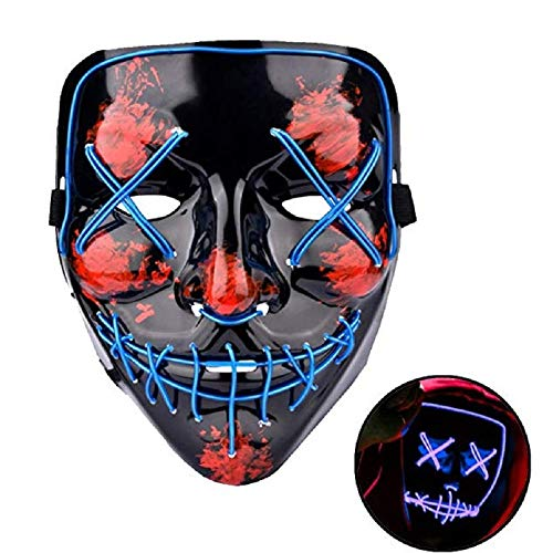 Himine Cosplay LED Mask Light up Mask for Festival Party Halloween