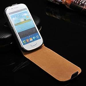 50 pcs/lot Genuine Leather Flip Style Case for Samsung Galaxy S3 Mini i8190 Phone Bag Wholesale DHL --- Color:White